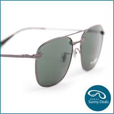 Police Wings 1 Polarised Shiny Gunmetal Grey Green Sunglasses (PL590 568P)