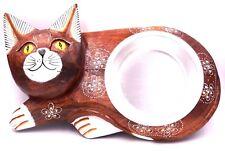 Gamelle chat Écuelle Bois bol amovible artisanal chien animaux