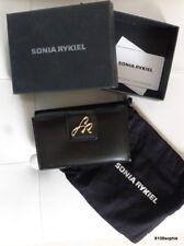 Sonia RYKIEL Porte monnaie cartes noir SR Neuf avec boite
