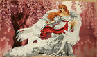 Gobelin Tapestry Textile Picture White Angel Woman Panels without Frame 70x115