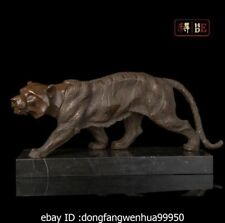 Abstract Art Sculpture China Bronze Copper Marble Animal Tiger Statue Figurine