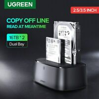 Ugreen External Hard Drive Docking Station USB 3.0 to SATA Dual-Bay for HDD SSD