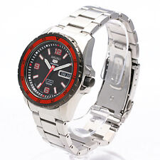 SEIKO MEN AUTOMATIC BLACK BEZEL 100M SNZG73 WATCH SNZG73J1 JAPAN