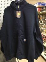 Carhartt 102274-001 Mock Neck Full Zip Midweight Sweatshirt MED
