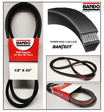 "BANDO POWER KING REPLACEMENT BELT FOR DIXON 16108, 1684, 539124267 / 1/2""x43"""