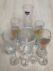 Vintage Mixed 10pc Beer Lager Rum Shot Shooter Liquor Gin & Tonic Glasses Set UK