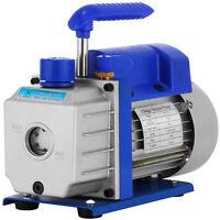 3CFM 1-Stage Refrigerant Vacuum Pump Refrigeration Gauges A/C Air Conditioning