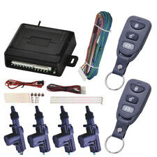 Universal Car Central Power Door Lock /Unlock Remote Kit 2 Keyless Entry 4 Doors