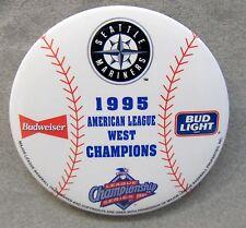 "SEATTLE MARINERS 1995 American League West CHAMPIONS 3"" baseball pinback button"