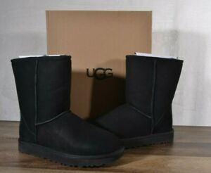 UGG Australia Classic Short II Suede Sheepskin Boots 8 MED Black 1016223 Ankle