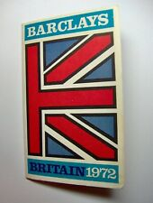 "1972 BARCLAYS BOOKLET ""BRITISH CURRENCY EQIVALENTS"" & RAIL MAP TRAVEL GUIDE"