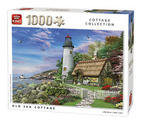 1000 Piece Old Sea Ocean Side Lighthouse Cottage Collection Jigsaw Puzzle 05717