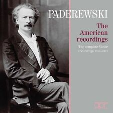 Brahms Strauss Paderewski Ignacy Jan Paderewski American Recordings (Box) CD NEW