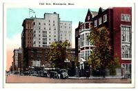 Early 1900s Club Row, Minneapolis, MN Postcard
