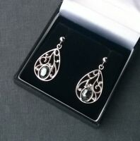 SILVER HEMATITE EARRINGS SOLID 925 SOLID STERLING