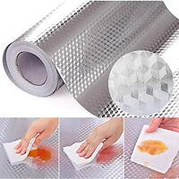 NE_ Oil Proof Aluminum Foil Self Adhesive Home Kitchen Wall paper Wall Sticker D