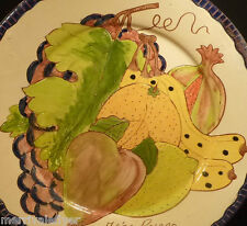 Majolica Anibal Rosado Vintage HARVEST PLATE Sao Pedro Corval Portugal platter