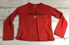 Reebok Kansas City Chiefs Equipment NFL T Shirt Sz M - EUC Red Tee -KC Arrowhead