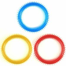 SOFT PET DENTAL CHEW TOYS Dog Puppy Teeth Cleaning Chewy Play Biting Ring Clean