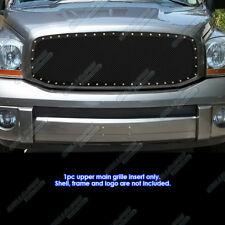 2006-2008 Dodge Ram Stainless Steel Rivet Studded Black Mesh Grille Grill Insert