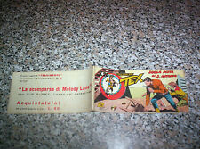 TEX STRISCIA QUINTA SERIE (5°) N.22 ORIGINALE 1952 AUDACE PERFETTA TIPO ZAGOR