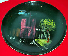 BILL SEAY  RARE CHURCH & FIGURINES FINE POTTERY PLATE,SEAY ESTATE