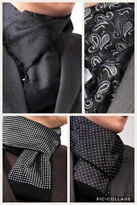 BLACK/SILVER CASHMERE & SILK ITALIAN DESIGNER DOUBLE SIDED SCARF