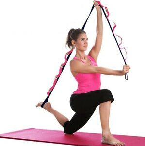 Yoga Strap/Belt With 12 Loops Resistance Band Stretching & Rehabilitation Ballet