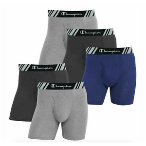 Champion Mens Elite X-Temp Double Dry Boxer Briefs 5-Pack Comfort Fit Everyday