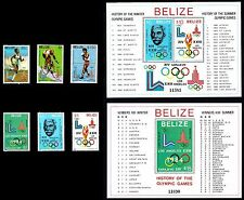 BELIZE 1981 MNH SET+2 Sheets MOSCOW Olympics RARE MICHEL: 563-568 / Block 36-37a