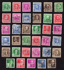 United States Famous Americans Issues Group Used
