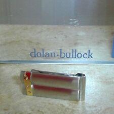DOLAN BULLOCK  money clip madrid ss &18k gold w/diamond  great gift NMC010800