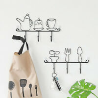 Wall Door Hook Set Plain Adorable Design Home Cabinet Clothes Bag Hanging  Lot