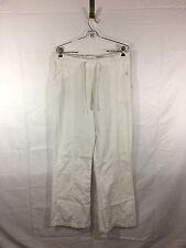 LANDAU Scrub Pants Bottoms Woman's Size L White Nurse Very Nice Pants EUC