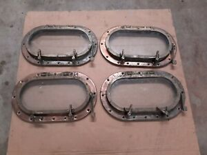 Bronze / Brass Oval Porthole / Portlight 7x14 Set of four