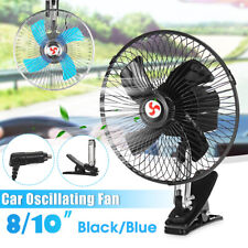 8/10'' 12V Portable Vehicle Auto Car Oscillatin Fan Clip-On Cooling Fan   +