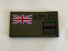 The Rifles Zap Number & Blood Group Badge, Military Patch, Hook Loop Option Army