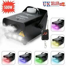 500W Fog Smoke Machine LED RGB Light Effect Lighting DJ Disco Party Wedding UK