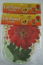 Beistle Flower Die Cut Cardboard Window Decor 2005 LARGE 2 pks Nos