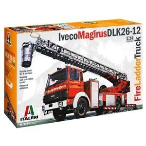 Italeri 1/24 Iveco Magirus DLK26-12 Fire Ladder Truck Kit (New)