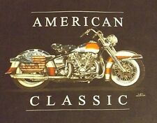 VINTAGE BLACK 2 XL AMERICAN CLASSIC MOTORCYCLES GRAPHIC CREW NECK TEE SHIRT