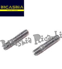 7056 - 2 PRIGIONIERI PRIGIONIERO SCARICO 6X32 VESPA 50PK S XL N V RUSH FL FL2 HP