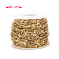 3M Gold Chain Stainless Steel DIY Chain Findings for Necklace Bracelet Making