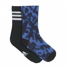 Adidas 2 Packung Jungen Grafik Knöchel Sportsocken 3 Streifen Lang Schwarz