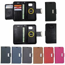 Cell Phone Wallet Case Diary Cover MK01 For Samsung Galaxy S7 Black PVC