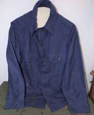 1940s Post War Us Air Force Four Pocket Blue-Grey Wool Heavy Flying Shirt