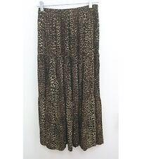 Made In Texas Womens Sz Small Prairie Skirt Leopard Cheetah Brown Maxi B7