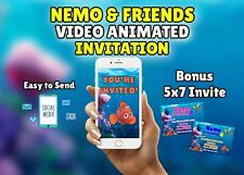 Finding Nemo and Finding Dory Birthday Party Video Animated Invitation