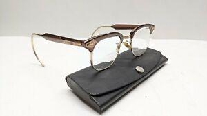 Vintage 1960's Brown Aluminum Shuron Sunglasses, 5-3/4
