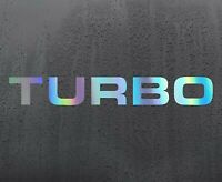 TURBO Chrome holographic vinyl sticker funny car decal JDM DUB bumper
